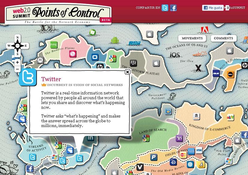 Mapa Interactivo De La Web 2 0 Clases De Periodismo