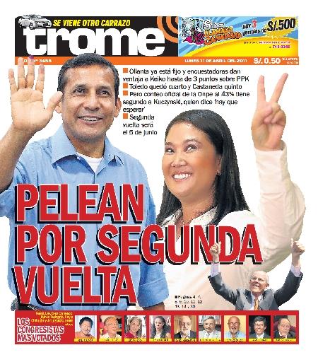 Las Portadas De Las Elecciones Presidenciales Peruanas Clases De