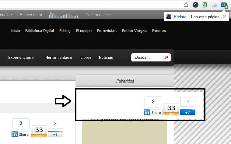 El botón +1 en todas las páginas webs - Clases de Periodismo