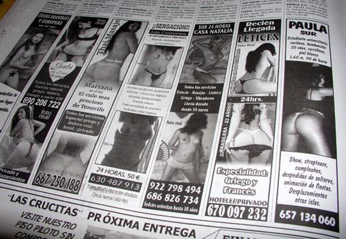 anuncios prostitutas legalizacion prostitución