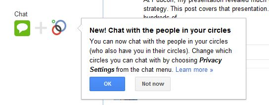 Chat with circles