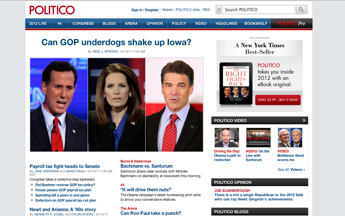POLITICO screen shot