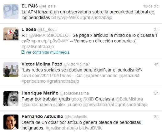 #gratisnotrabajo