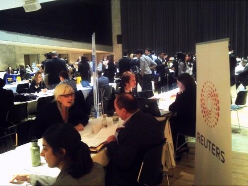 Foto: Expo de Carreras, Escuela de Periodismo de Columbia, 26.03.11
