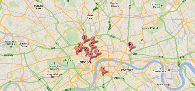 Mapa WiFi en Londres