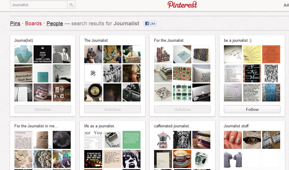 Pinterest periodistas