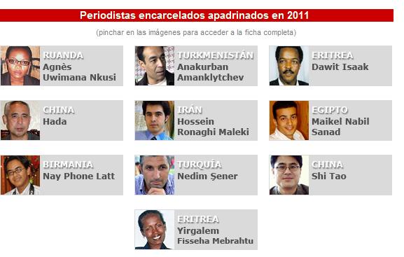 Periodistas presos