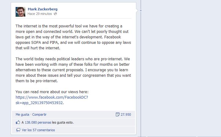 Facebook SOPA