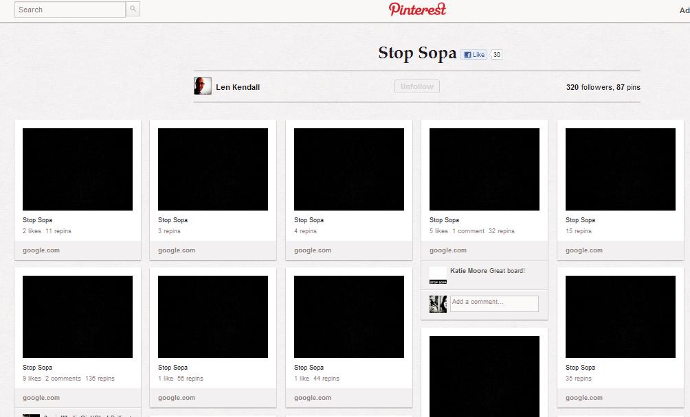 Pinterest SOPA
