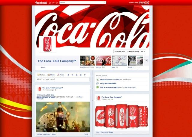 Así es como se vería el diseño para Coca-Cola. Vía Mashable