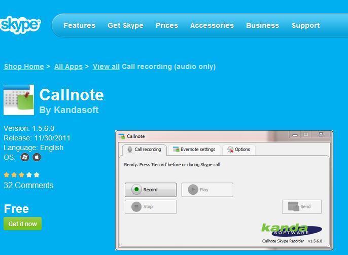http://www.kandasoft.com/kanda-apps/callnote.html