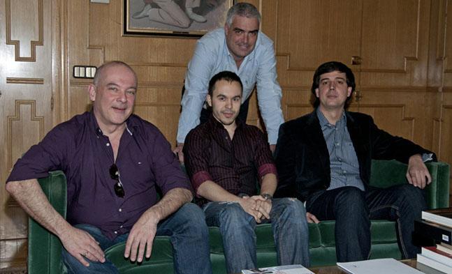 Gabriel Merino, Pablo M. Beleña, I. Esteban Fernández y Alberto Martín (detrás). Foto: Elena Hidalgo | APM