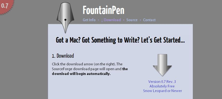 http://fountainpen.sourceforge.net