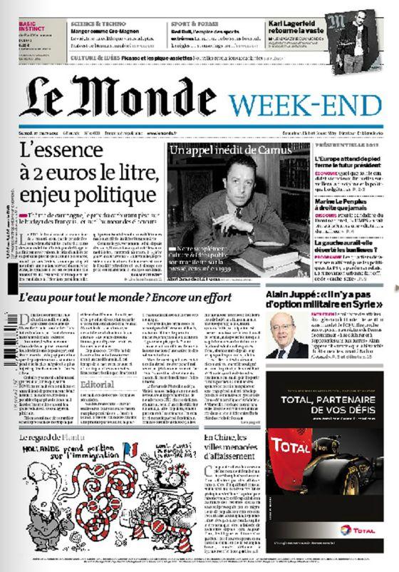 Portada de 'Le Monde' vía elpais.com