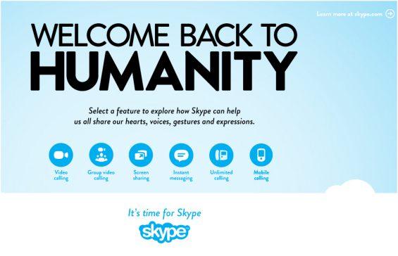 Humanidad-skype-campaña