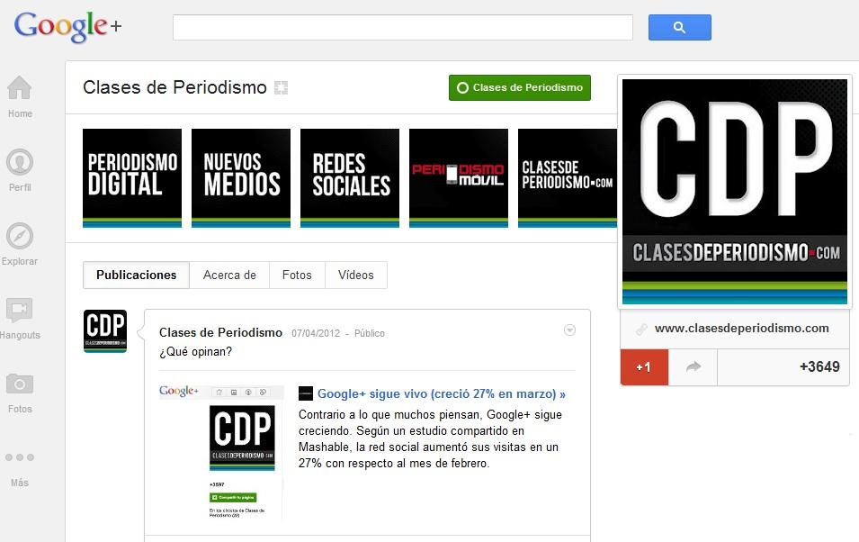 cdp googleplus
