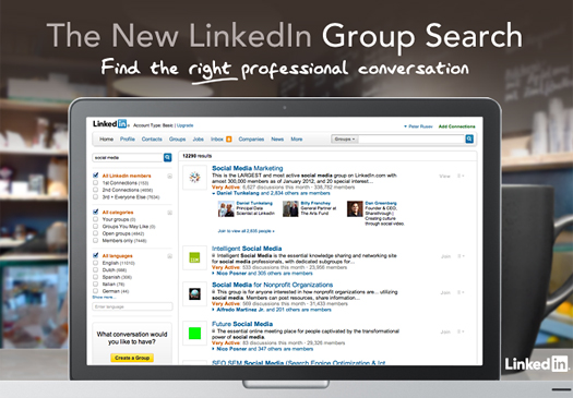 linkedin gropu search
