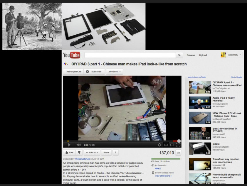 Tutoriales de Youtube para armar un iPad casero