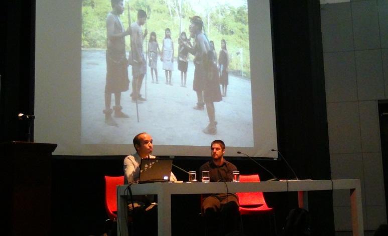 Bruno Monteferri y Enrique Basurto en el Encuentro de Periodistas Culturales
