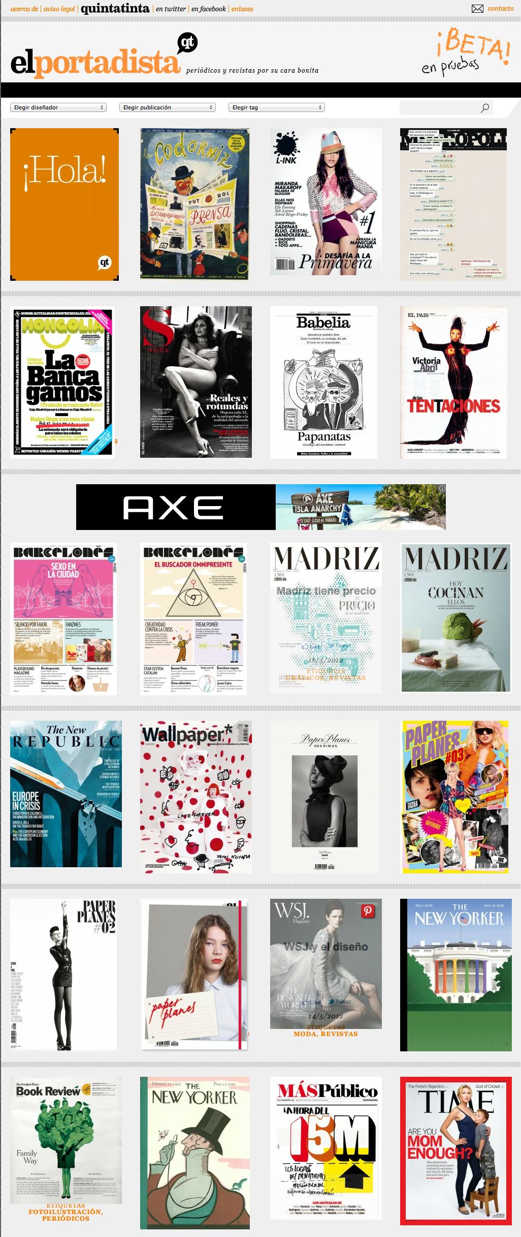 El Portadista | Periódicos y revistas por su cara bonita