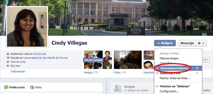 Facebook Cindy Villegas