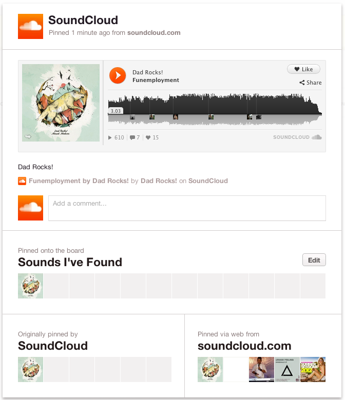 SOUNDCLOUND PINTEREST
