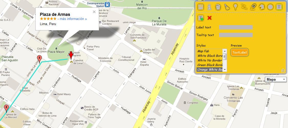 MapFab plaza de armas