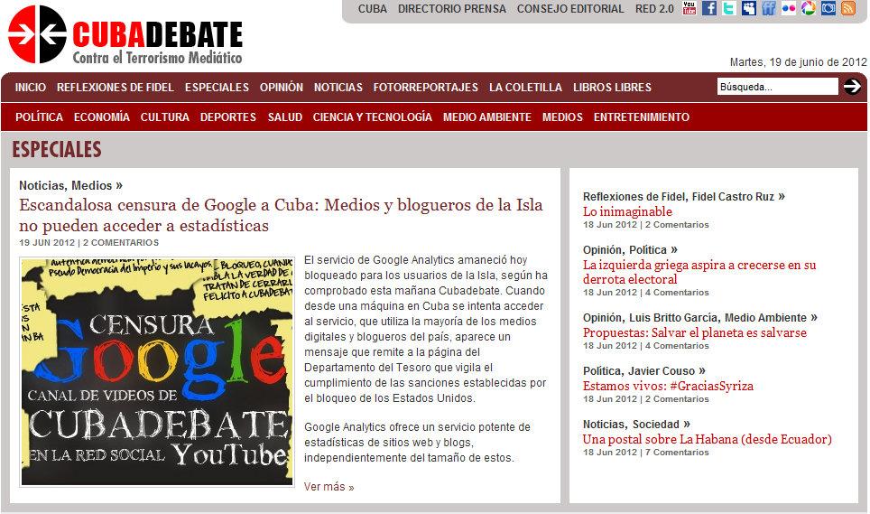 bloqueo google en cuba
