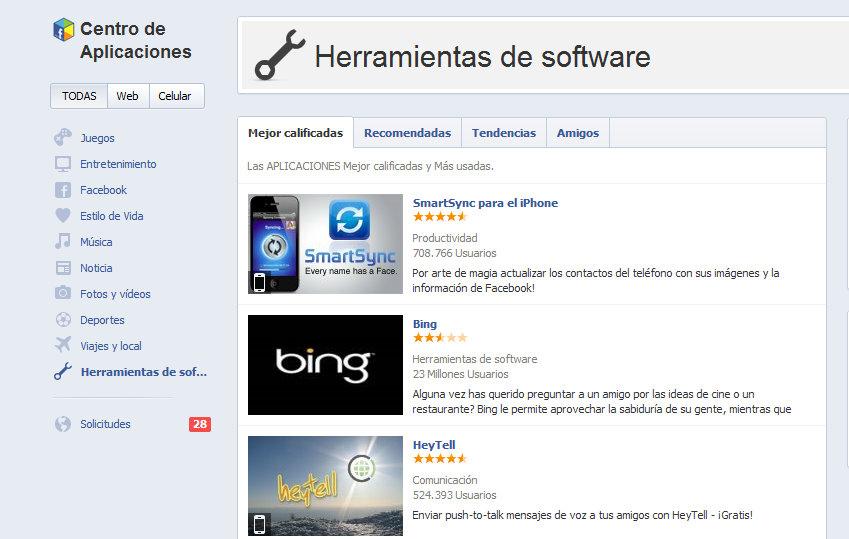 facebook centro de app