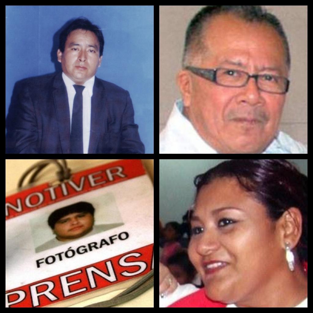Algunos periodistas asesinados en Veracruz