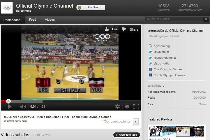 olimpiadas youtube