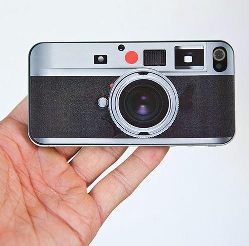 Skin modelo Leica para iPhone 4. Imagen de Logit42.com