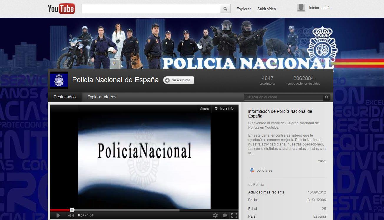 youtube-policía-españa