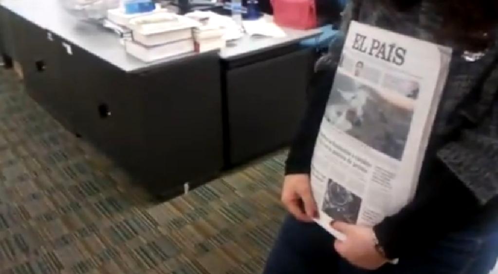 España- 5 minutos de silencio en la redacción de El País - Clases de Periodismo
