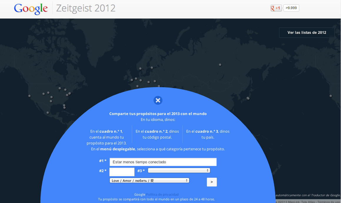 Propositos 2013 google