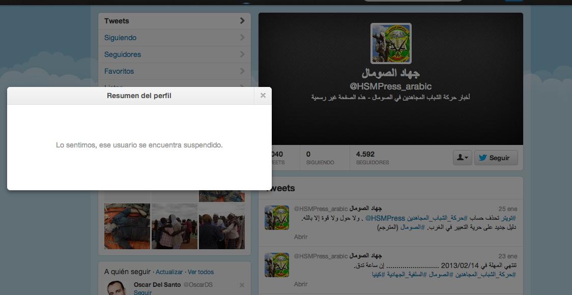 Twitter Al-Shabab