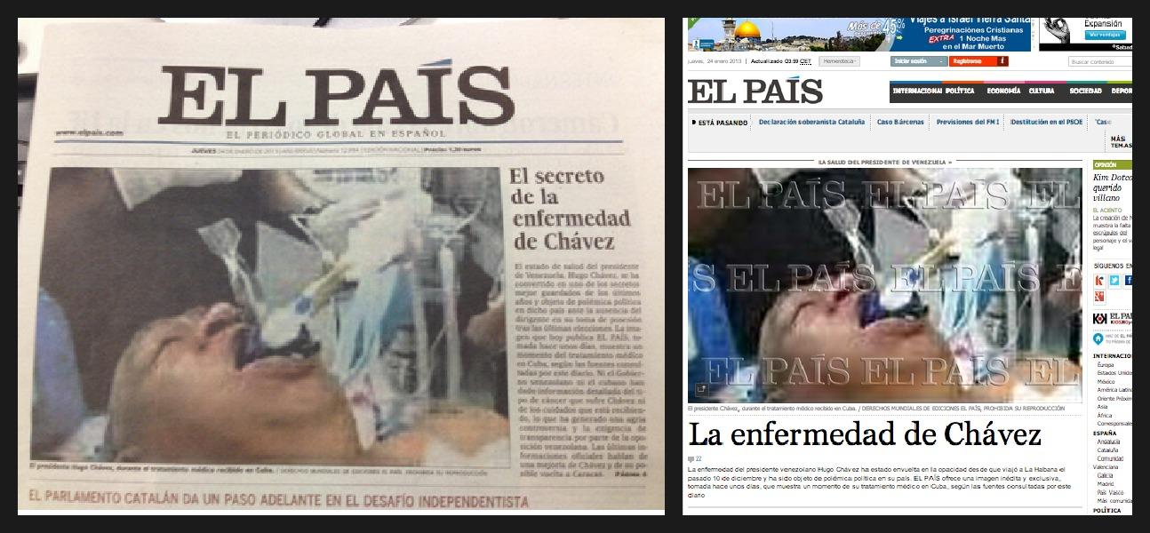 El País y Chávez