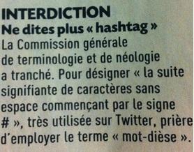 Hashtag prohibido en Francia