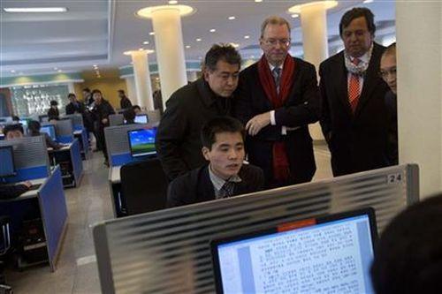 Presidente de Google en Corea del Norte-AP