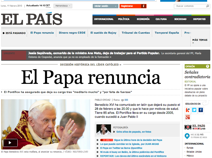 El País El PAPA
