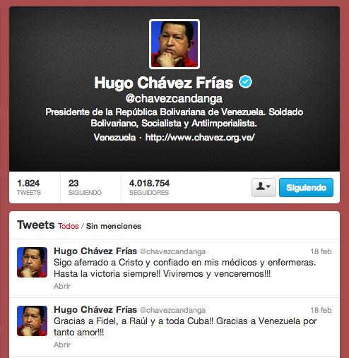 Chávez Twitter