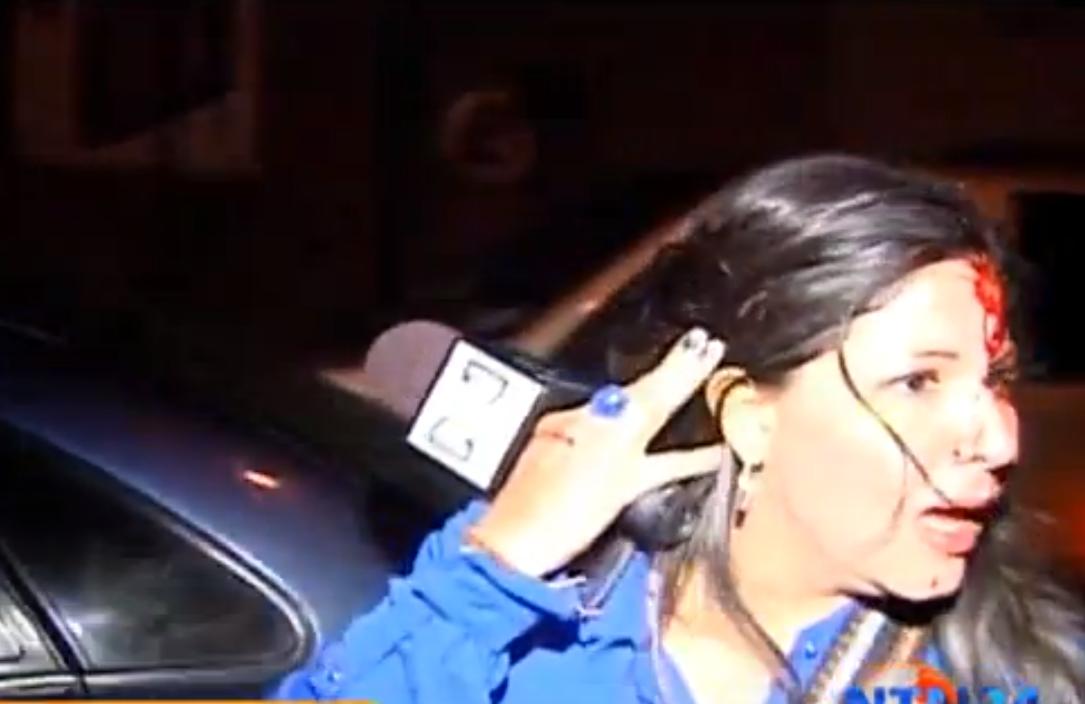 Periodista agredida Venezuela