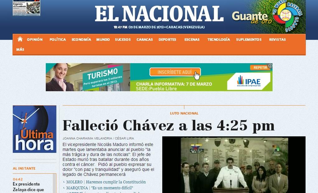Chavez El Nacional