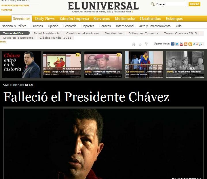 Chavez El Universal