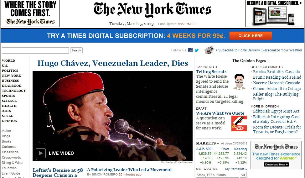 Chavez NYT