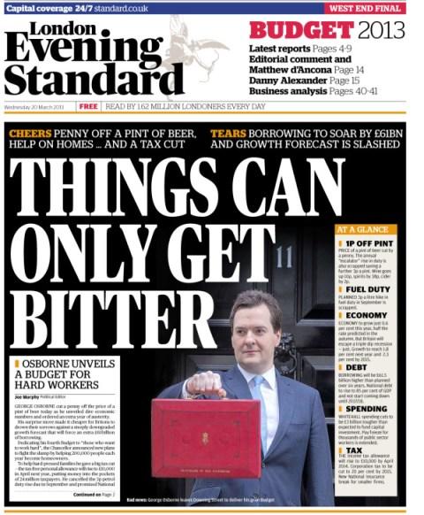 Portada Evening Standard