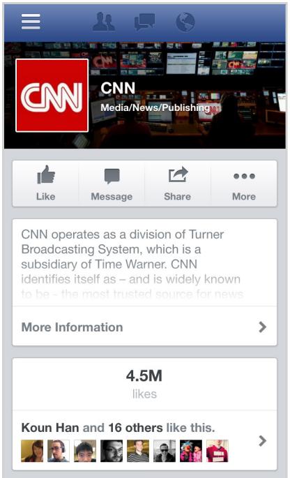 CNN en Facebook