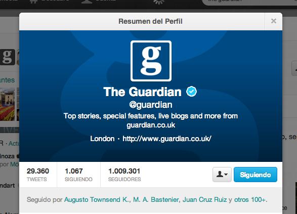 The Guardian en Twitter