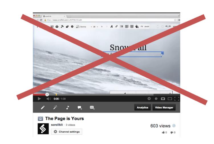 Video de Snow Fall