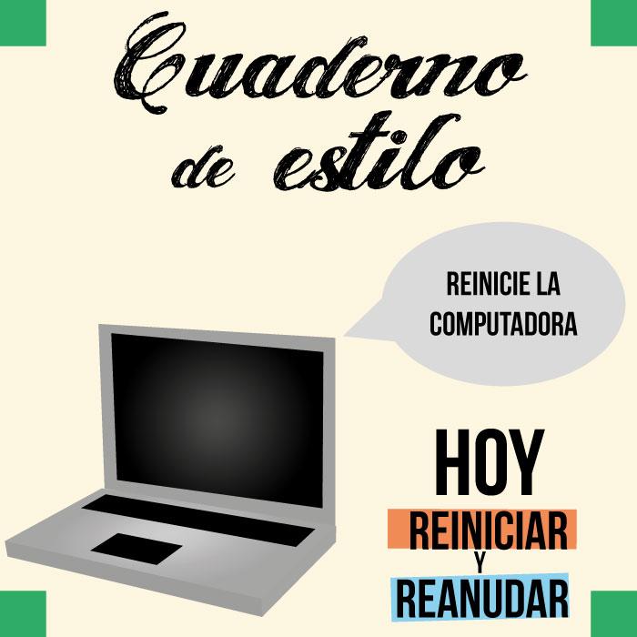Aprendamos a emplear \'reiniciar\' y \'reanudar\' - Clases de Periodismo